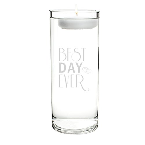 (Cathy's Concepts Best Day Ever Floating Unity Candle)