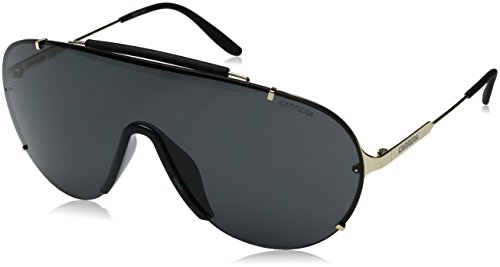 Carrera Men's Ca129s Shield Sunglasses, Gold/Gray, 99 - Sunglasses Carrera 1