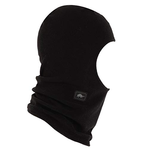 Turtle Fur Micro Fur Fleece Balaclava Hood, Black - One Size (Turtle Fur Frost Mask)