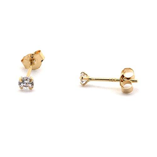 Yellow Gold Cubic Zirconia Earrings