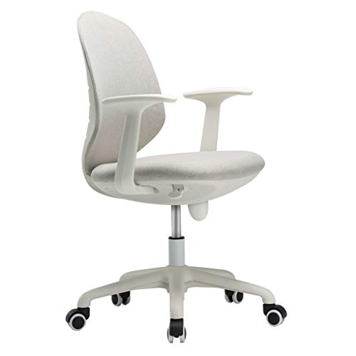 (TangMengYun Office Swivel Chair Home Computer Rotating Chair Simple Mesh Office Chair Lift Seat Leisure Swivel Chair Student Study Desk Adjustable Chair (Color : White))