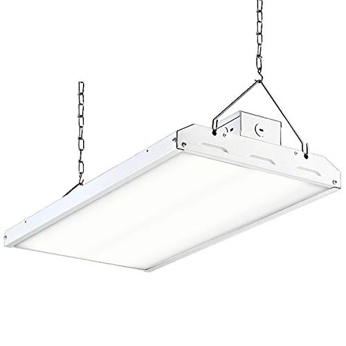 Hykolity LED High Bay Shop Light, 2FT 110W Linear LED Industrial Workshop Light, Warehouse Aisle Area Light 14300lm, 5000K Daylight, 4 Lamp Fluorescent Equivalent, 1-10V Dim, UL, DLC Complied, 1 Pack