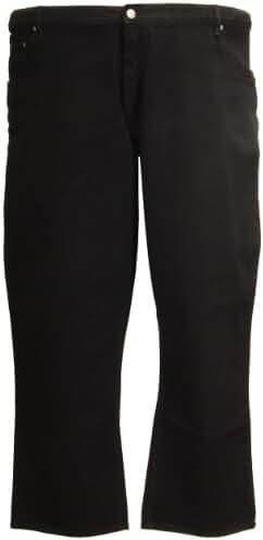 Kam Classic Jeans Large Size Short Cotton Black