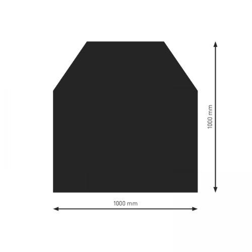 Schindler + Hofmann PU052-1B2-sw Bodenplatte B2 6-Eck schwarz pulverbeschichtet 1000 x 1000 mm