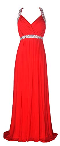 - conail Coco Women's Elegant Royal Formal Dresses Wear Long Wedding Party Gowns (XLarge, 30Red)