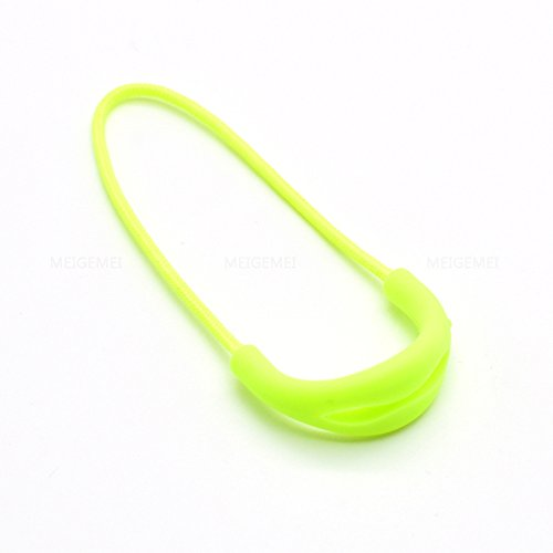 9pcs/pack U Shape Color Zipper Pulls Fits/zipper Fixer For Apparel Accessories (Neon Yellow)