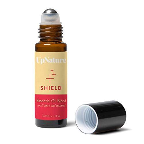 Shield Essential Oil Roll-On Thieves Oil Blend- Stocking Stuffer - Keep Immunity On Guard - Fight Germs - Relieve Cold & Cough Roller - High-Quality - Leak-Proof Rollerball - No Diffuser Needed!