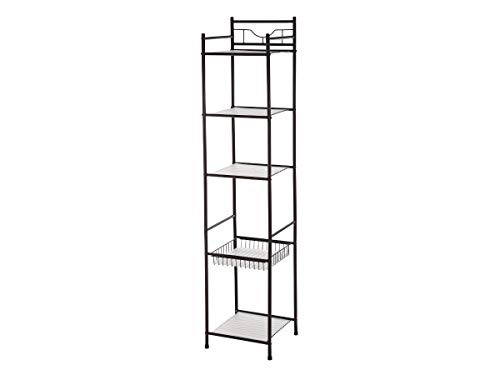 Mainstay 5 Tiers Shelf Tower with Liner - Kitchen,Living Room, Office Organizer | Oil Rubbed Bronze 13