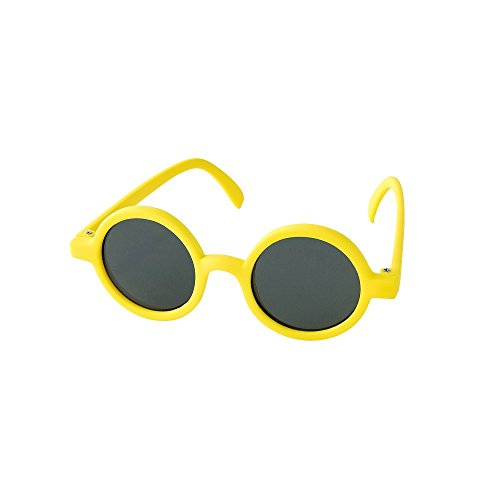 Funky Mod Rubber - Time Concept Fashion UV400 Round Sunglasses for Kids - Yellow