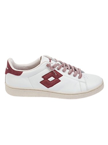 Lotto Men's T0812RED White/Red Leather Sneakers cheap order kVLya