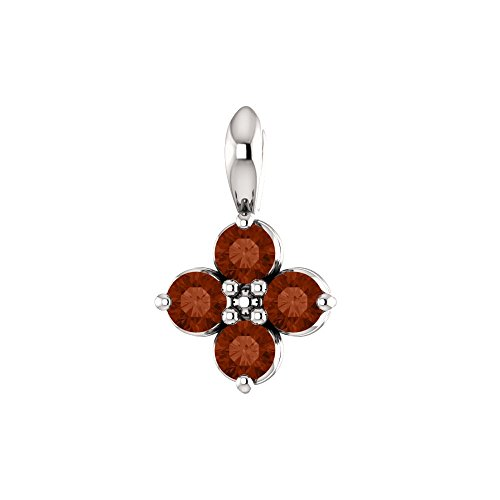 (Bonyak Jewelry 14k White Gold Youth Mozambique Garnet Pendant)
