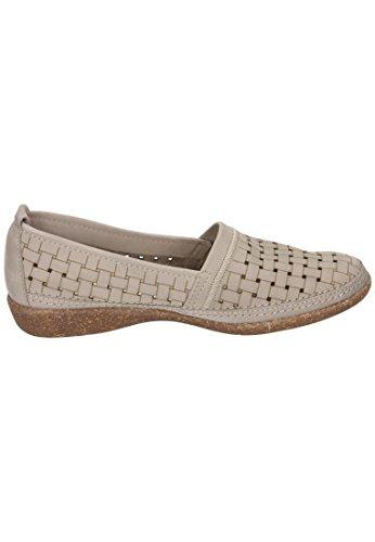 942 5 damen 027 Confortevole Pantofola Taupe Blau qCp1CAtw