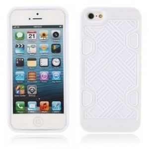Check Pattern Hard Protection Frame Protective Case for iPhone 5/5S White