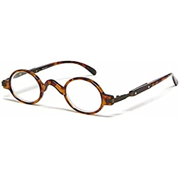 c364ece08201 The Professor Teacher Round Oval Vintage Style Unisex Spring Hinge Reading  Glasses For Men and Women Readers +3.00 Tortoise (Carrying Case Included)
