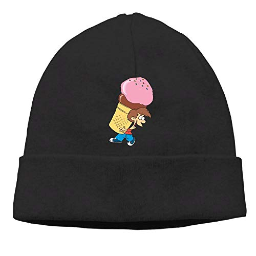 Charm Watch Ice Cream - Beanie Hat Womens Winter Retro Boy Licking Ice Cream Watch Cap