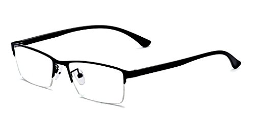ALWAYSUV Half Frame Clear Lens Business Glasses Prescription Optical Glasses - Frame Length Glasses