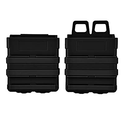 Zerone Magazine Holder, Universal Heavy Duty Clip Magazine Pouch Holder Quick Pull Box Mag Carrier for Nerf Tactics Accessories (Black)