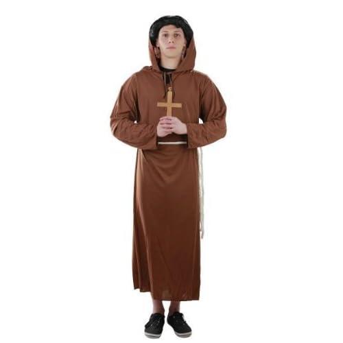 FOXXEO 10018| Costume de moine, tailles S–XXXXL