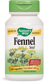 Nature's Way Fennel Seed, 100 Capsules (Pack of 2)