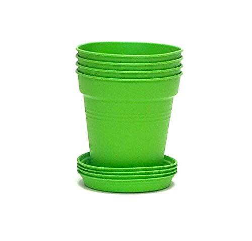 - Mintra Home Garden Pots 4pk (11cm Round, Lime Green)