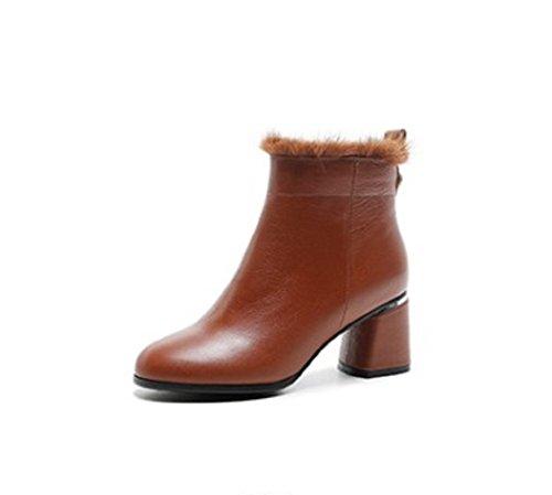 hexiajia - Sandalias de Vestir Mujer marrón