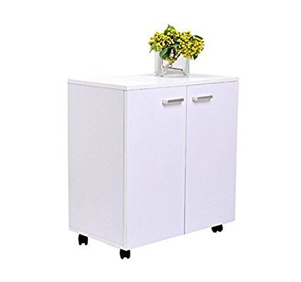 Homcom 2454140031 - mesa armario movil mueble tv de madera oon ...
