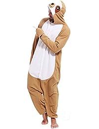 48be4a1be3c6 Adult Sloth Onesies Pajamas Cosplay Animal Homewear Sleepwear Jumpsuit  Costume for Women Men