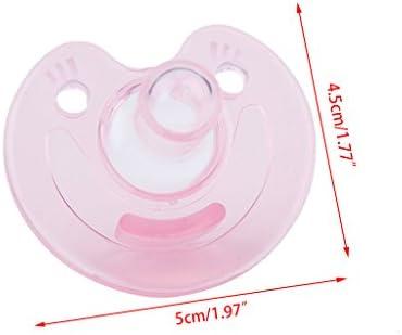 hbshe Baby Chupete Silicona Chupete Nippel Pino ortopédico Mordedor Niños Recién Nacidos Cuidado rosa Rosa: Amazon.es: Bebé