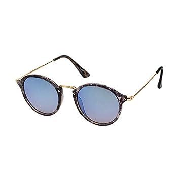 Retro Sonnenbrille Panto Round Glasses 400 UV Steg hoch geschwungen Metallbügel schwarz GfPNiCd