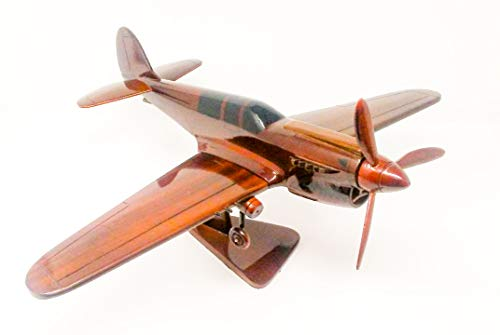 P-40 Warhawk Replica Airplane Model Hand Crafted with Real Mahogany Wood