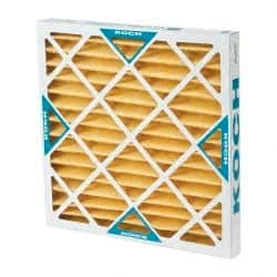 9 Pack Microfiberglass Paper Wire-Backed Pleated Air Filter Value Collection 20 Nom Height x 20 Nom Width x 2 Nom Depth