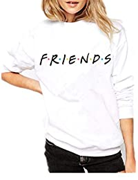 Baby Room Women's Casual Friends Printed Long Sleeve Pullover Sweatshirt