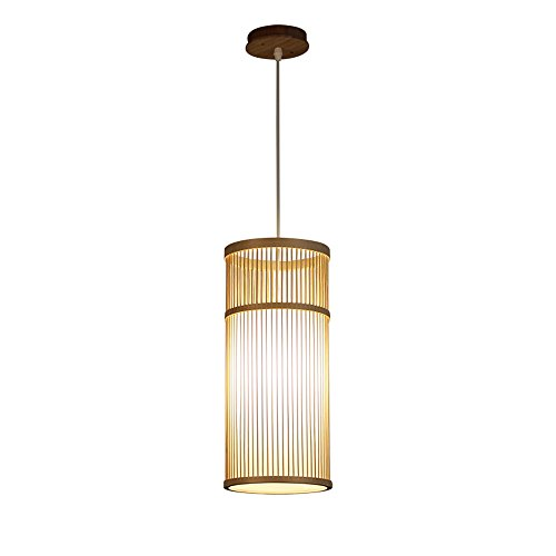 Creative Hand-woven Single-head Bamboo Chandelier Living Room Restaurant Bar Entrance Corridor Decorative Pendant Lamp Japanese Style Ceiling - Bamboo Lights Pendant