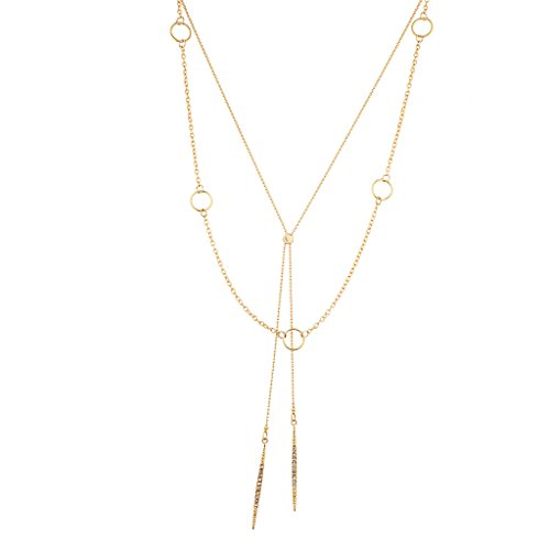 (Lux Accessories Geo Dainty Y-Necklace)