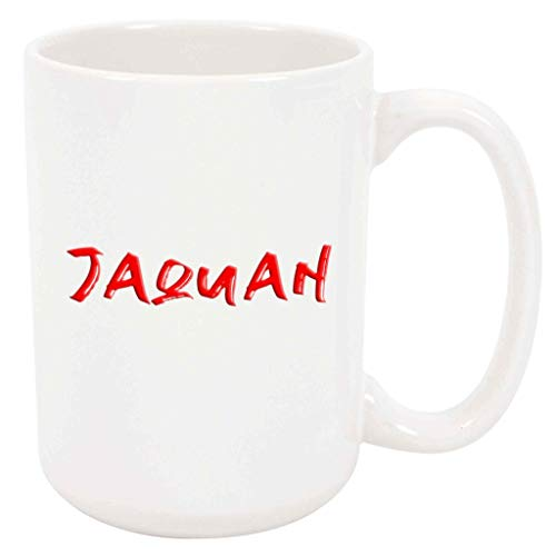Jaquan Table - Jaquan - White Mug - 15 Ounce Coffee Tea Mug, White Ceramic, Unique Name Present Gift Birthday Idea Boyfriend Husband Brother Father Dad Grandfather Son Boy Uncle Nephew Friend Man Co-Worker