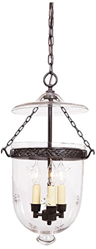 JVI Designs 1022-17 Bell Jar Lantern Decorative Band with Star Glass, Medium ()