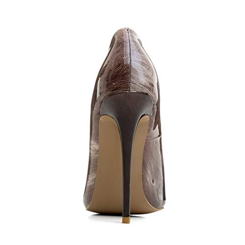 Plate De Haut A Étanche Pointu Soirée Talon Aux Pente Journée Pompes Forme 12Cm Talon Chaussures Du Longue Slim Banquet Femmes Simples Chaussures Navettage Hauteur Mode OL qtvU8