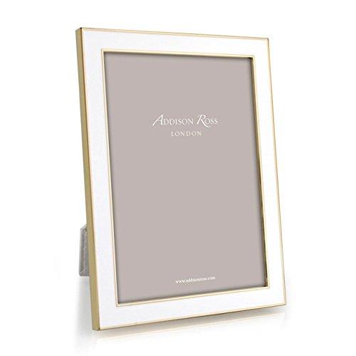 (Addison Ross White Enamel Gold Frame 4x6 )