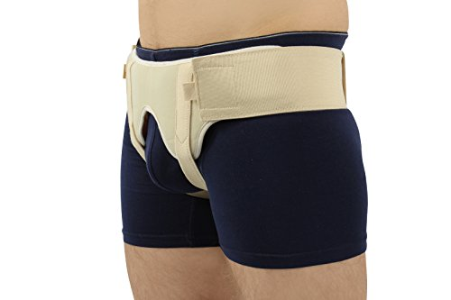 BeFit24 - Double Inguinal Hernia Belt for Men - Medical Groin Support Truss - Made in Europe - 5 Year Warranty - [ Size 2 - Beige ] by BeFit24