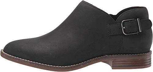 Clarks Women's Camzin Pull Ankle Boot, Black Leather, 65 M US