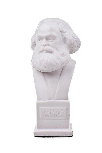 danila-souvenirs German Philosopher Socialist Karl Marx Marble Bust Statue Sculpture 4.9'' White by danila-souvenirs