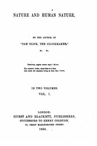 Nature and Human Nature - Vol. I pdf epub