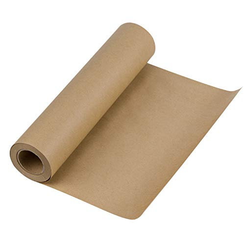 (RUSPEPA Brown Kraft Paper Roll - 12 inch x 100 Feet - Natural Recycled Paper Perfect for Crafts, Art, Small Gift Wrapping, Packing, Postal, Shipping, Dunnage & Parcel)