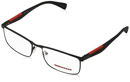 Prada PS54FV Eyeglass Frames DG01O1-55 - Black - Eyeglasses Men Prada