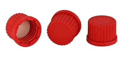 Chemglass CG-196-01  Series CG-196 Solid Cap, PTFE Seal, GL-14 Thread, PBT