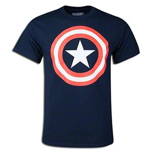 Captain America - Distressed Shield T-Shirt Size L