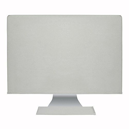 Hermitshell Dust and Water Resistant Cover Silky Smooth Antistatic with Soft Velvet Lining iMac Monitor and Keyboard Color: Silver Gray Fits iMac (21.5)