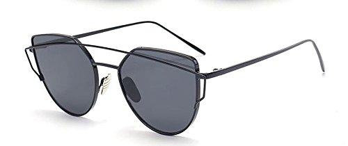 Grise inspirées polarisées A vintage en cercle Feuille métallique de lunettes rond style Lennon soleil du retro qtUZ6