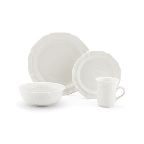 Mikasa French Countryside 16-Piece Dinnerware Set, Service for (Mikasa White Dish)