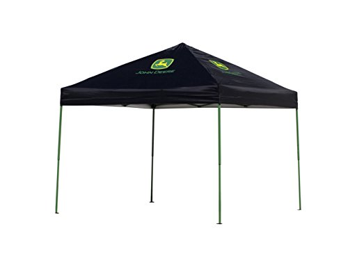 John Deere Aero Shade Mesh 10x10 Instant Canopy with Shade Cover -  Black/Green